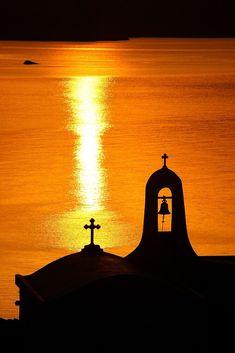 """Sunset in Tinos island"" by Hercules Milas | Redbubble Sunset Photos, Sunrises, Hercules, Long Hoodie, Travel Mug, Monument Valley, Greece, Coast, Island"