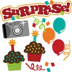 SVG birthday svg file camera svg file cupcake svg file svg files for scrapbooking Birthday Club, Happy Birthday, Birthday Wishes, Birthday Clipart, Birthday Crafts, Birthday Decorations, Scrapbook Borders, Scrapbook Titles, Birthday Scrapbook