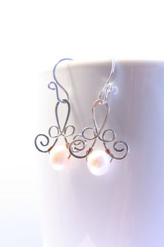 earrings Wedding freshwater pearls by SusyDeMarchiJewelry on Etsy, €21.50