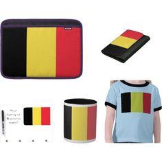 """Flag of Belgium gifts on Zazzle!"" by dww25921 on Polyvore  http://www.zazzle.com/flagsbydww25921*  #flag #global #zazzle"
