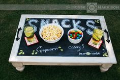 Repurposed Cabinet Doors | Repurposed Cabinet Door to Snack Table | Cute For One Day