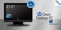 """Stay connected to the world from your home with a 21.5"""" HP Omni Desktop PC with a 500GB hard drive, Realtek audio, integrated webcam and more for SR 2092 (Value SR 2999) – Comes with Windows 7 Home Premium!"""