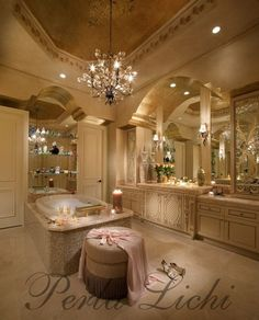 Elegant dream bathroom. Girly things!