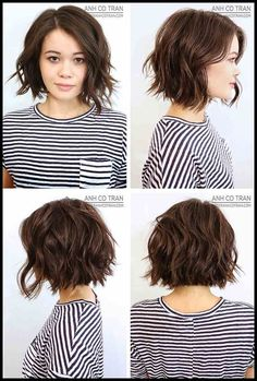 Wavy bob haircuts messy waves bob haircut for wavy hair shoulder length short ha. - Wavy bob haircuts messy waves bob haircut for wavy hair shoulder length short hairstyles for women - Layered Haircuts For Women, Haircuts For Wavy Hair, Short Hairstyles For Women, Girl Hairstyles, Simple Hairstyles, Medium Hairstyles, Messy Bob Hairstyles, Short Hair For Women, Plus Size Hairstyles