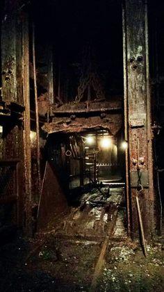 Elevator inside the No. 9 coal mine, Lansford, Pennsylvania