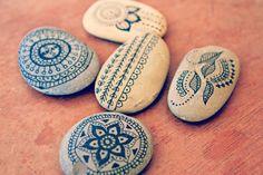 Indian Ink Zen Stones / Custom. $15.00, via Etsy.