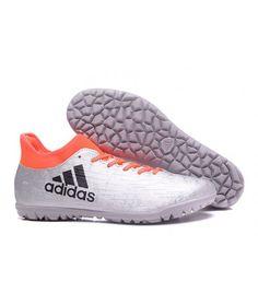 Adidas X 16.3 TF Suola Per Erba Sintetica Uomo Scarpe Da Calcio Argento Arancione Nero