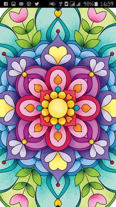 Mandalas Mandala Art, Mandala Doodle, Mandala Drawing, Mandala Design, Doodle Art, Dot Painting, Acrylic Painting Canvas, Painting & Drawing, Flower Phone Wallpaper