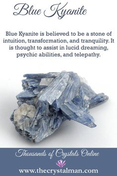 Intuition-Transformation-Tranquility-Lucid Dreaming-Psychic Abilities-Telepathy Shop crystals online any time at The Crystal Man! Crystal Healing Stones, Crystal Magic, Stones And Crystals, Gem Stones, Black Crystals, Moon Stones, Quartz Crystal, Minerals And Gemstones, Crystals Minerals