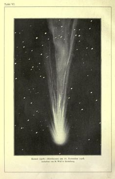 Plate VI. Morehouse Comet. November 1908. Astronomie. Published 1921.