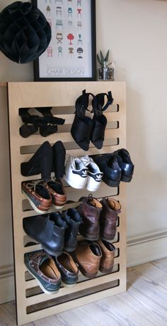 Shoe Shelf by design student Isabella Bergstroem. Spotted by @missdesignsays