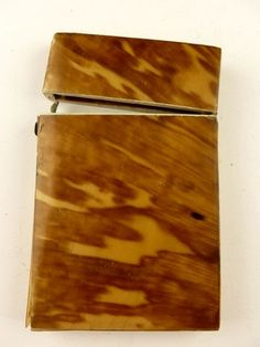 Victorian tortoise shell calling card case bought in England as over 100 years old.