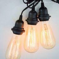 Triple Socket Black Pendant Light Lamp Cord for Lanterns, 19 FT, UL Listed