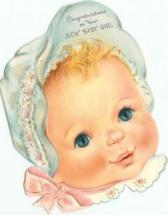 Vintage card - New Baby