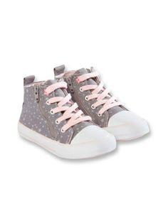 Baskets toile zips et lacets Fille - Chaussure Bébé et Enfant : Obaïbi & Okaïdi