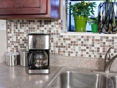 HGTV Remodels: Expert tips on self-adhesive backsplash tiles plus inspirational pictures and ideas for choosing tiles and installing a kitchen backsplash.
