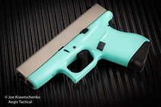New Glock 43 in robins egg blue available at @aegistactical  #glock #edc #9mm #glock43 #robinseggblue