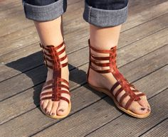 Leather Sandals Gladiator High ankle Handmade by MagusLeather