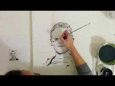 "Speed Painting Portrait ""Graydon"" by Angela Simone - YouTube"