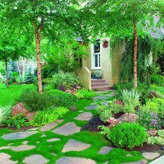DEKORASYON BİLGİLERİ: Doğal taştan bahçe zemin kaplamaları