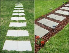 Boost curb appeal without breaking the bank. Check out 9 low budget driveway and pathway projects >> http://blog.diynetwork.com/maderemade/2015/08/21/before-and-afters-9-creative-driveway-and-pathway-updates-on-a-budget/?soc=pinterest #LandscapingOnABudget