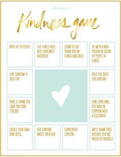 Looking for a fun & free game to play in class? Download the Kindness Game! This bingo-style game is great to play at home or in school. It encourages kindness & empathy, which makes it perfect for Bullying Prevention Month (& beyond)! #BullyFree