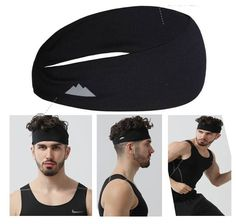 Details About Sports Moisture Wicking Elastic Headband Gym