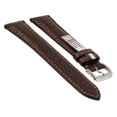 Rios Uhrenarmband Colorado, mokka, 22 mm, echtes Büffellederarmband.