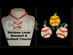 Rainbow Loom Baseball Softball Charm Tutorial