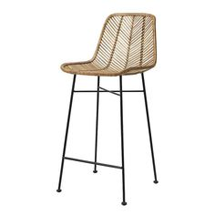 Beautiful rattan barstool chair by Danish atmosphere maker Bloomingville. The chair has a strong metal frame, around it is woven rattan. Rattan Bar Stools, Bar Stool Chairs, Dining Chairs, Ikea Chair, Diy Chair, Kitchen Stools, Counter Stools, Unique Home Decor, Cheap Home Decor