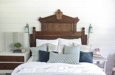 Eastlake Headboard Beautifully Refinished and modified to fit a queen size mattress