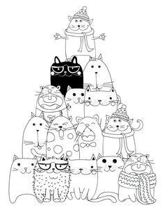 drawing to print pyramid cat coloring - Les Colos de kiki - - dessin à imprimer pyramide chat coloriage drawing to print pyramid cat coloring Cat Coloring Page, Coloring Book Pages, Splat Le Chat, Cat Colors, Cat Crafts, Digi Stamps, Cat Drawing, Doodle Art, Cat Art