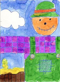 Easy Scarecrow Painting | Art Projects for Kids