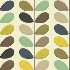Behang Orla Kiely - Multi Stem - Seagreen