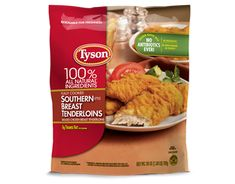 Keep quick meals on hand with Tyson® crispy chicken strips – now even crispier! Made from chicken raised with no antibiotics and no preservatives. Costco Chicken, Chicken Shop, Baked Zuchinni Recipes, Frozen Appetizers, Tyson Chicken, Breaded Chicken Tenders, Southern Chicken, Chicken Strips, Gourmet Recipes