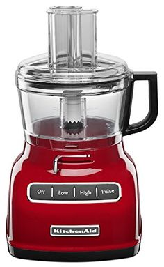 KitchenAid KFP0722ER 7-Cup Food Processor with Exact Slice System – Empire Red – KITCHEN APPLIANCES