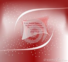 Greeting #card with floating small #paper, abstract design and #romantic #verses to the #husband