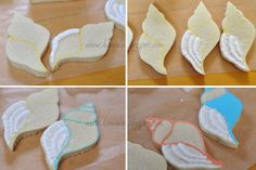 Hanielas: ~Sea Shell Cookies with Victorian Flare~ flarp recipes Apple Cookies, Iced Cookies, Fun Cookies, Decorated Cookies, Seashell Cookies, Mermaid Cookies, Sugar Cookie Royal Icing, Cookie Frosting, Sugar Icing