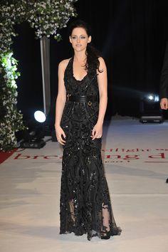 Kristen Stewart en robe Roberto Cavalli de la collection printemps-été 2012 lors de la première de Twilight à Londres, le 16 novembre 2011