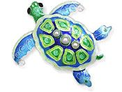 Sea Turtle Pin or Necklace with Pearls.