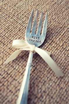 holiday, dinner, forks, hand stamped, metal stamping