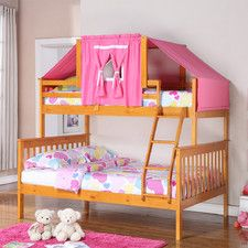 Donco Kids Donco Kids Twin over Full Futon Bunk Bed Finish: Cappuccino, Accessory Finish: Blue Girls Bunk Beds, Full Bunk Beds, Kid Beds, Girls Bedroom, Bedroom Ideas, Girl Rooms, Master Bedroom, Futon Bunk Bed, Loft Beds