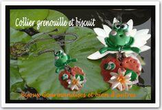 sautoir grenouille et son biscuit effet nénuphare