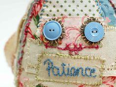 vintage fabric softie by grrl+dog