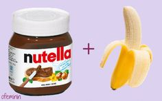 Nutella + frozen banana = 2 ingredients ice cream <3 Love it! #icecream #hack #recipe #lody #przepis #banana #nutella