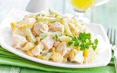 Diet Chicken, Pineapple and Apple Salad Recipe - cuisine - Diet Salad Recipes, Apple Salad Recipes, Salad Dressing Recipes, Healthy Recipes, How To Cook Quinoa, Easy Cooking, Chicken Salad, Easy Dinner Recipes, Healthy Foods