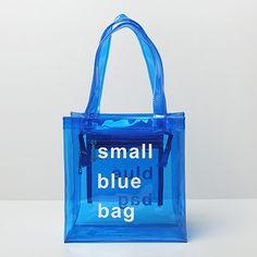 Two Size New Korean Style Transparent Letters Waterproof PVC Handbags Unisex…