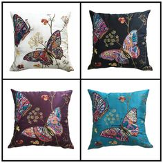 "Butterfly Dreams Cushion Covers 18"" x 18"" (Pack of 4)"