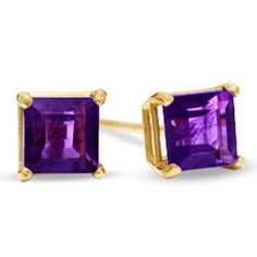 Amethyst earrings are special because amethyst is known to be a gem for protection when being worn on someone. These earrings are made using 14k solid yellow or white gold in order to provide you with the most durability so that you may wear these everyday without worry of damage. 14k gold is the strongest gold can be. You also have the choice of how big you want the stones in your earrings to be, The choices are 2.5mm, 4mm, 5mm in size. Specifications:  Make: Handmade to perfection Metal…