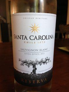 Santa Carolina Sauvignon Blanc, Leyda Valley, Chile